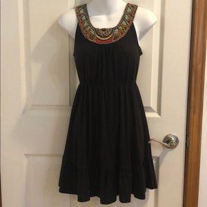 Cute brown beaded dress